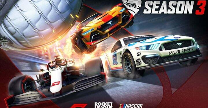 Rocket League Season 3 brings F1 and NASCAR to the stadium