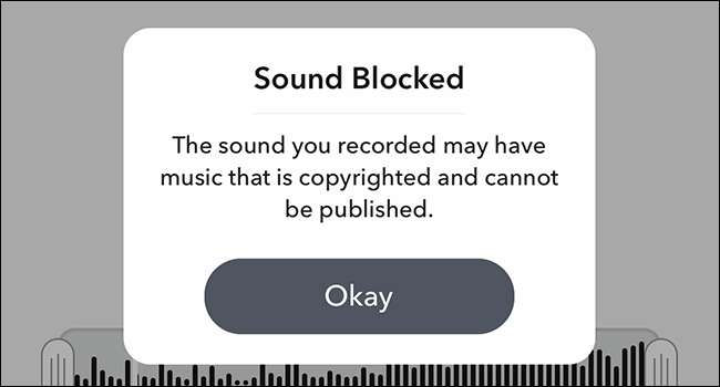 blocking the recording on the grounds of potential copyright liability