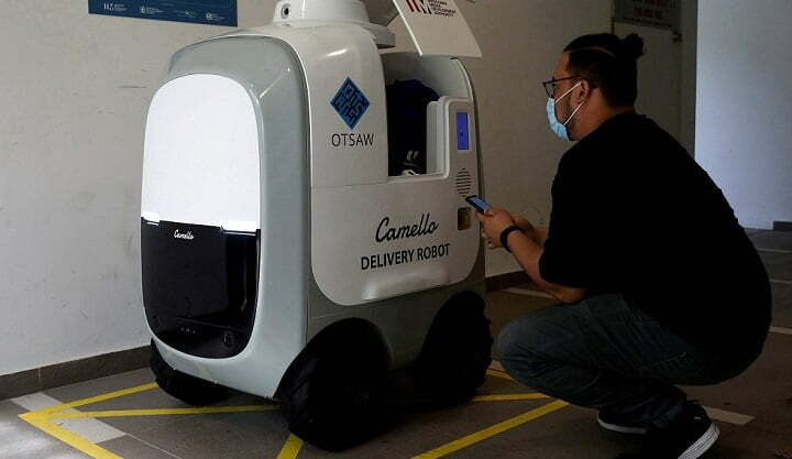 Otsaw Digital launches home delivery robots in Singapore