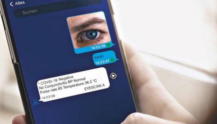 German developed corona virus testing with eye scan