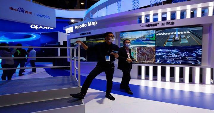 Tech giants flex autonomous muscle at Shanghai auto show