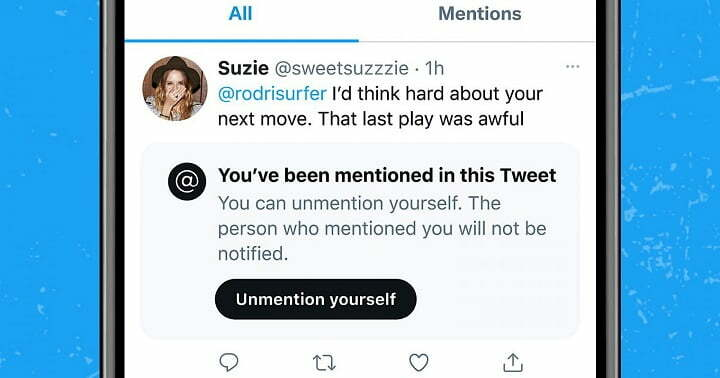"""Twitter new feature let you """"Unmention Yourself"""" from tweets"""