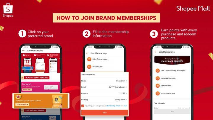Shopee Mall Brand Memberships Program announced