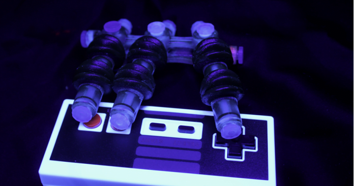 A 3D-printed soft robot hand that can play Nintendo