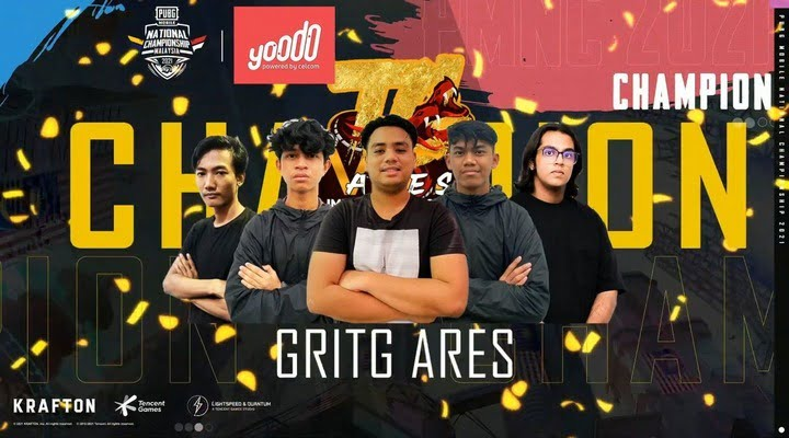 Gritg Ares Win PUBG Mobile Malaysia National Championship 2021