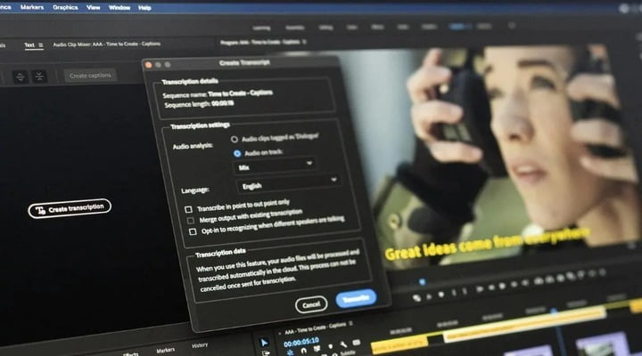"""Adobe Adds New Feature """"Speech to Text"""" for Adobe Premiere Pro"""