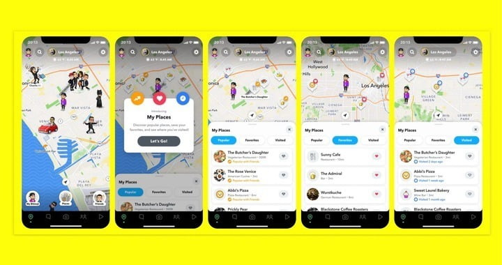 Snapchat for iOS adds 'Places' feature on Snap Map location-sharing