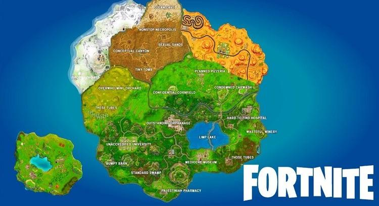 Fortnite Friendly Cube Lands Safely on the Map
